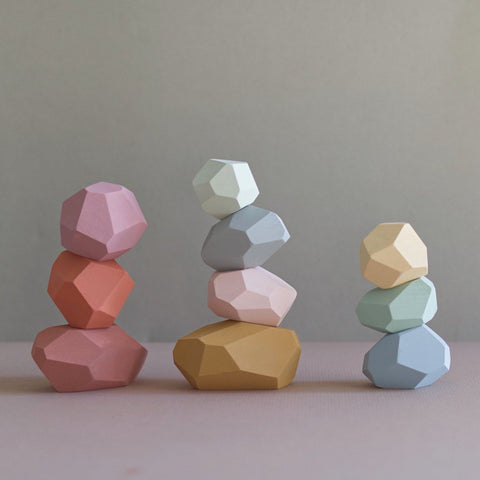 Balancing Stones - Pastel Colours (Set of 10)