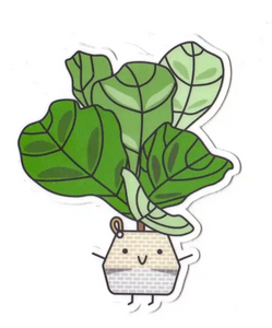Fiddle-Leaf Fig Die Cut Sticker