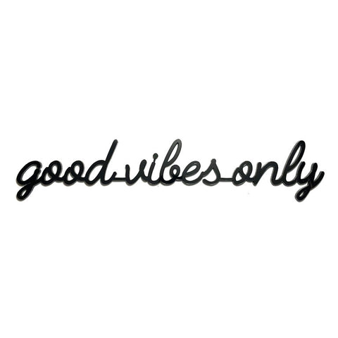Self-Adhesive Quote - good vibes only