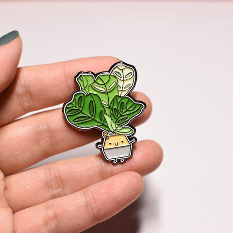 Fiddle-Leaf Fig Soft Enamel Pin
