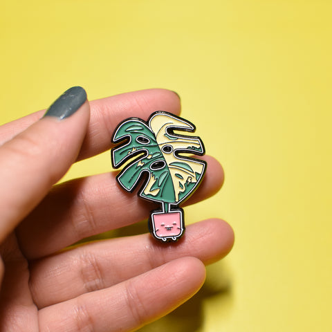 Variegated Monstera Soft Enamel Pin