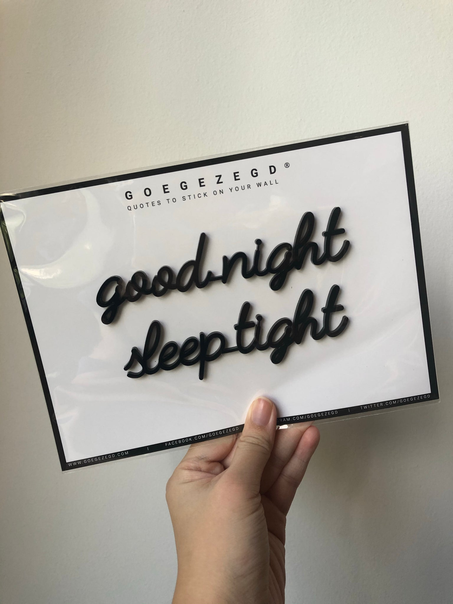 Self-Adhesive Quote - good night sleep tight