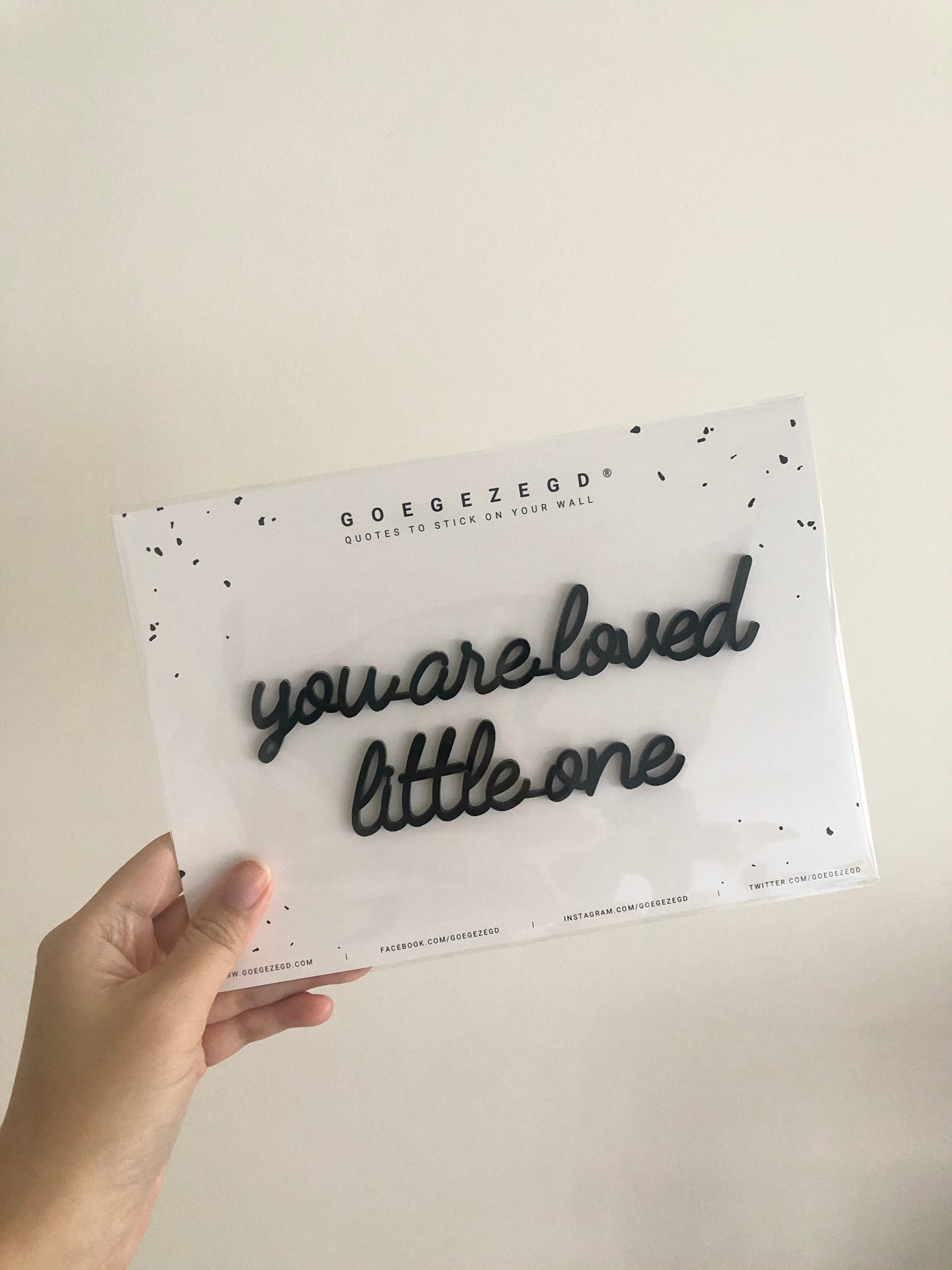Self-Adhesive Quote - you are loved little one