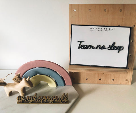 Self-Adhesive Quote - Team no sleep