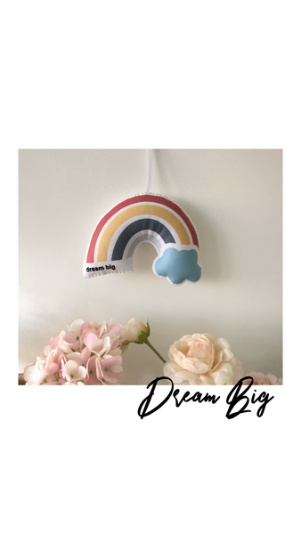 Personalized Hanging Rainbow Puff ⋒