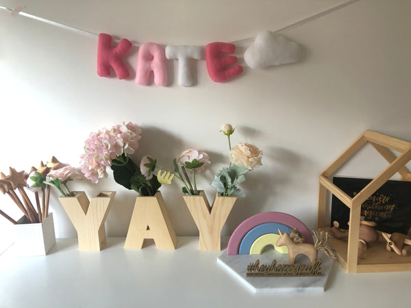 (PO CLOSED) Customizable Felt Name Banner for Baby Shower / Maternity Shoot / Birthday Party