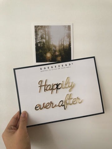 Self-Adhesive Quote - Happily ever after