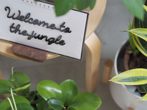 Self-Adhesive Quote - Welcome to the jungle