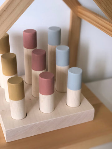 (Seconds Sale) Wooden Peg Sorter