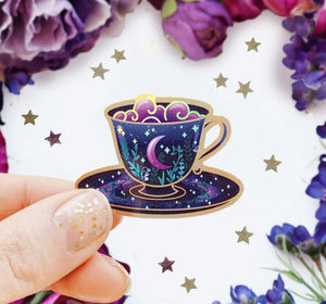 Mystical Moon Teacup Sticker