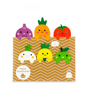 Fruits & Vegetables Bookmarks Set
