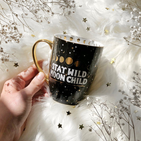 Stay Wild Moon Child Mug - Black