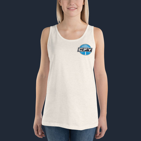 CFY-Small-Logo-Womens-Tank-Top-Oatmeal Triblend