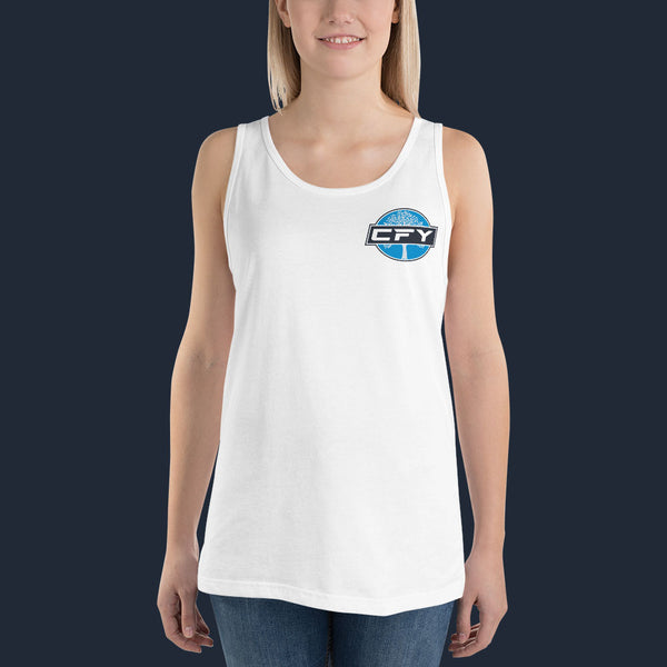 CFY-Small-Logo-Womens-Tank-Top-White
