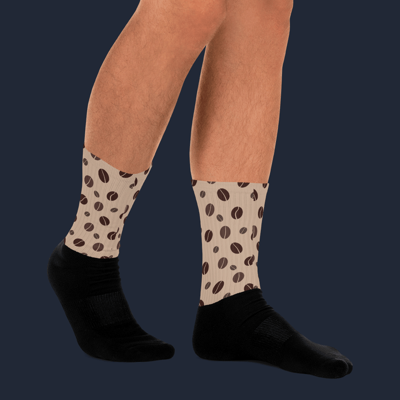 Coffee Beans Sublimated Socks