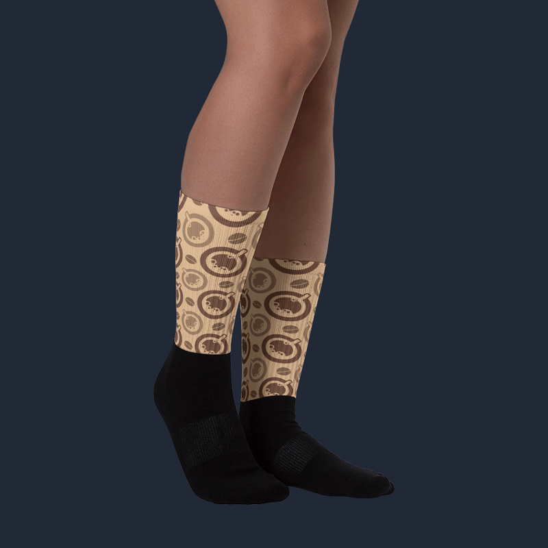 Coffee and Cups Sublimated Socks
