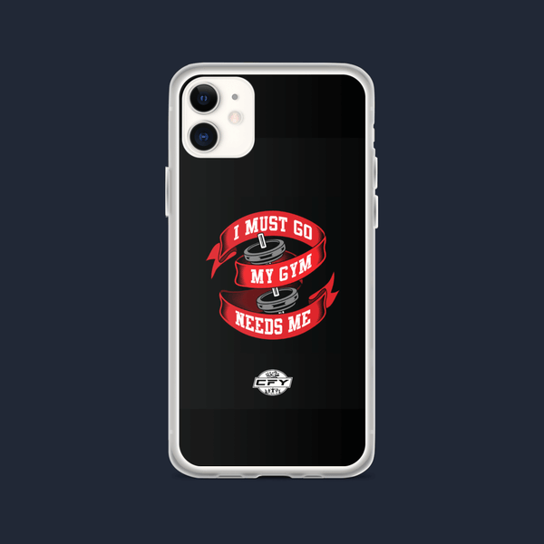 I Must Go, My Gym Needs Me iPhone Case