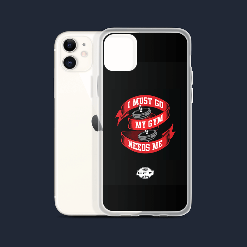 I Must Go, My Gym Needs Me iPhone Cases