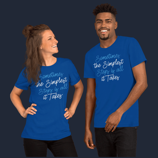 The Simplest Stepsm Unisex Gym T-Shirt