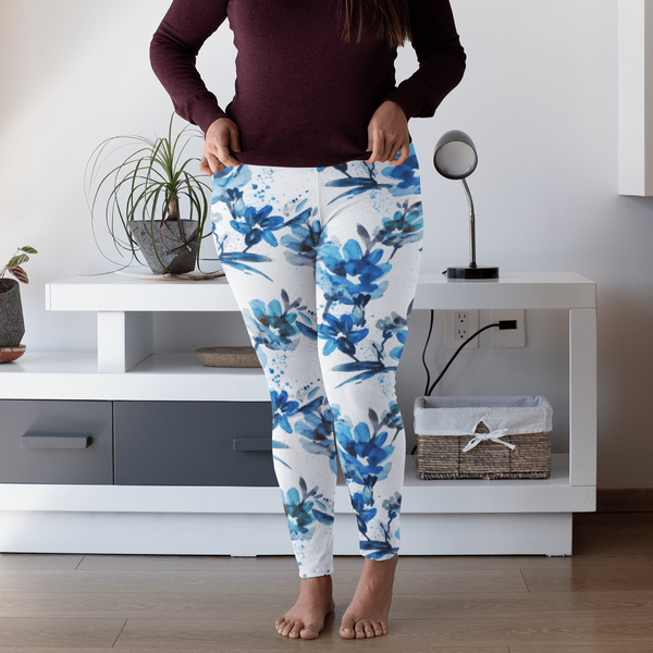 Watercolor Flower Hot Yoga Pants