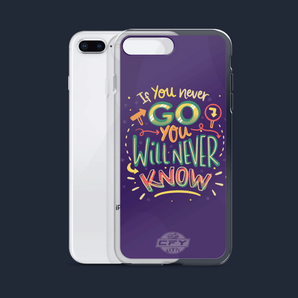 If You Never Go You Will Never Know iPhone Cases