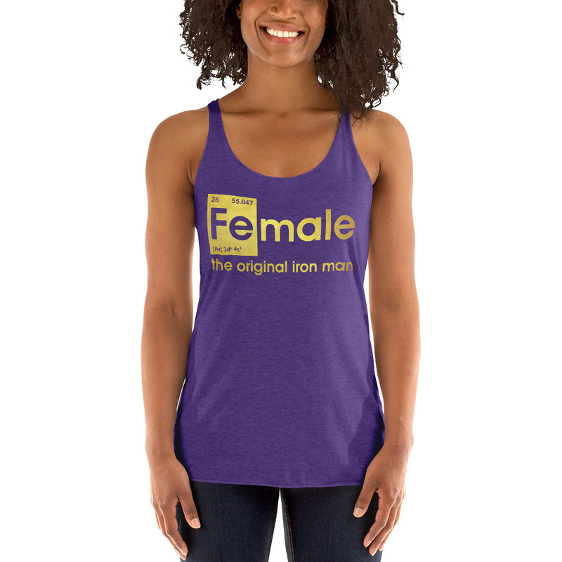 Fe-male the original Iron Man Lace Tank top
