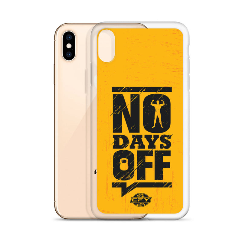 No Days Off iPhone Case Customise