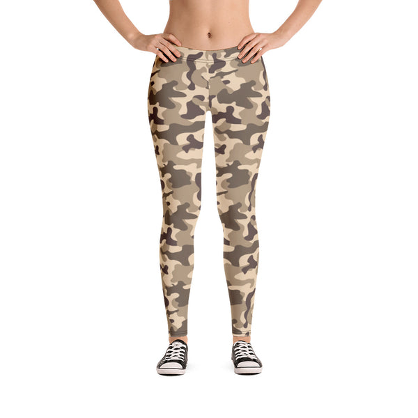 Stylish Earth Camouflage Yoga Apparel
