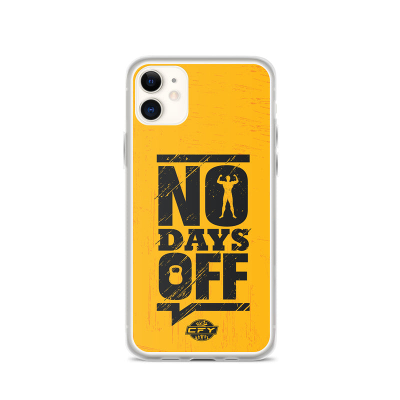 No Days Off iPhone Case 8