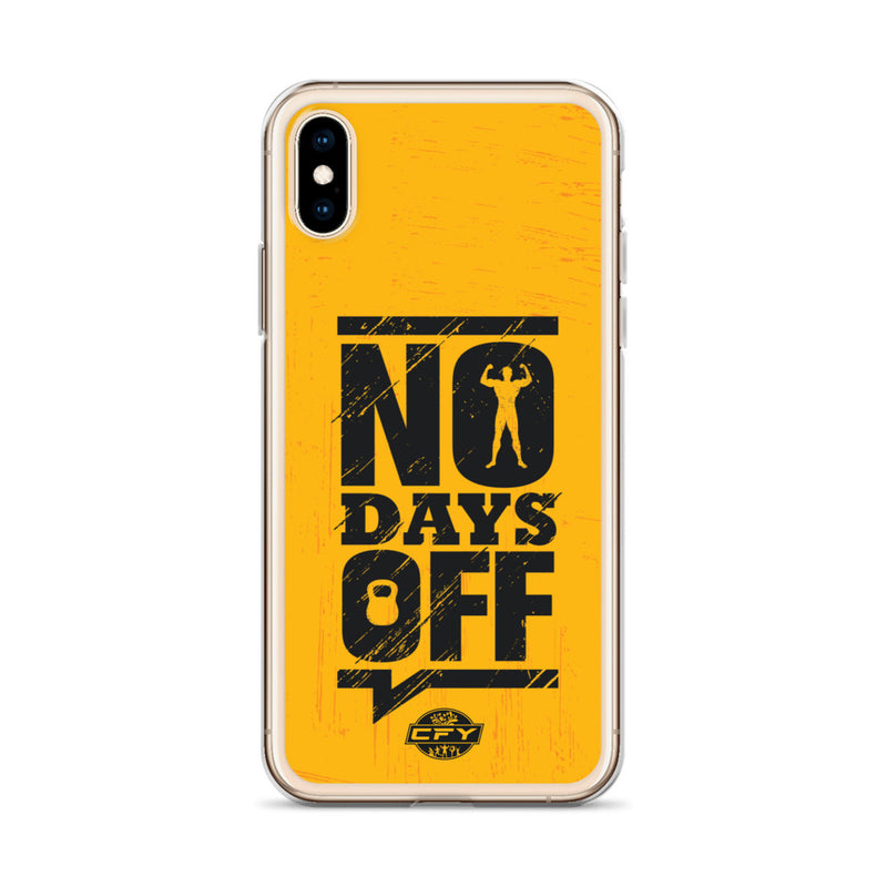No Days Off iPhone Case 8 Plus