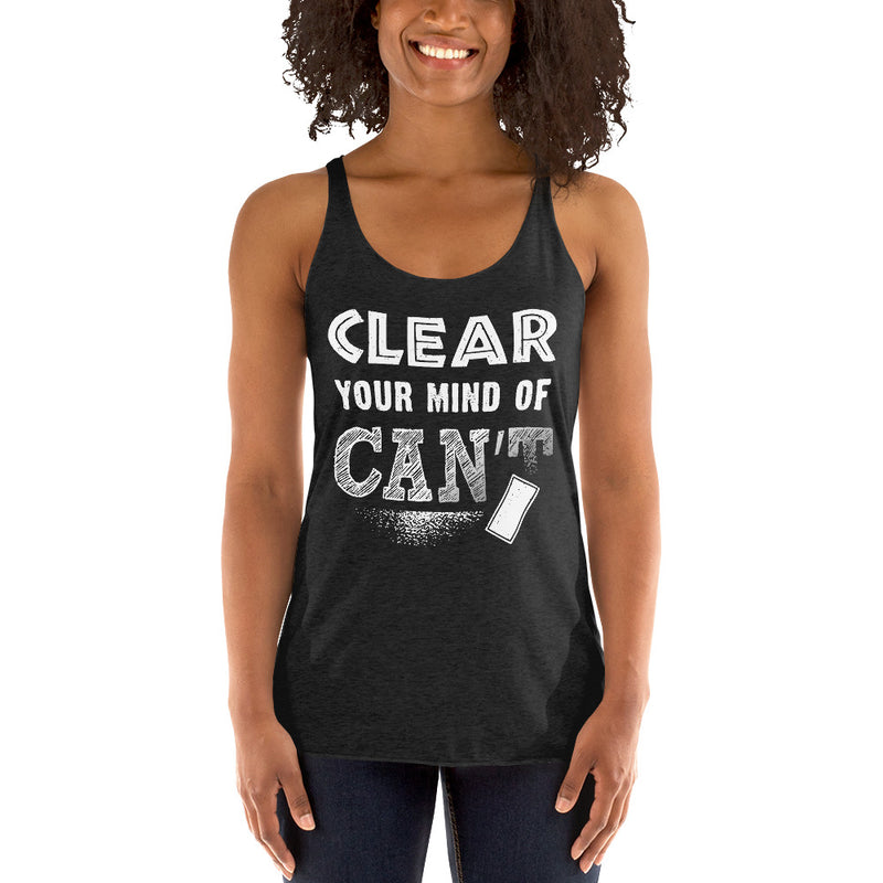 Clear your mind of Can't Tank Top Crop