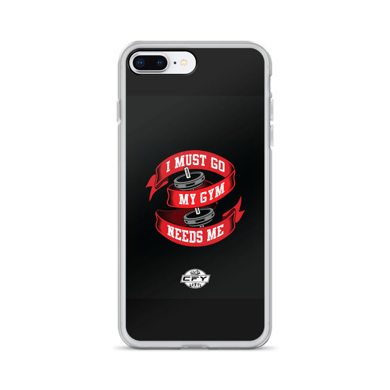 I Must Go, My Gym Needs Me iPhone Case Custom