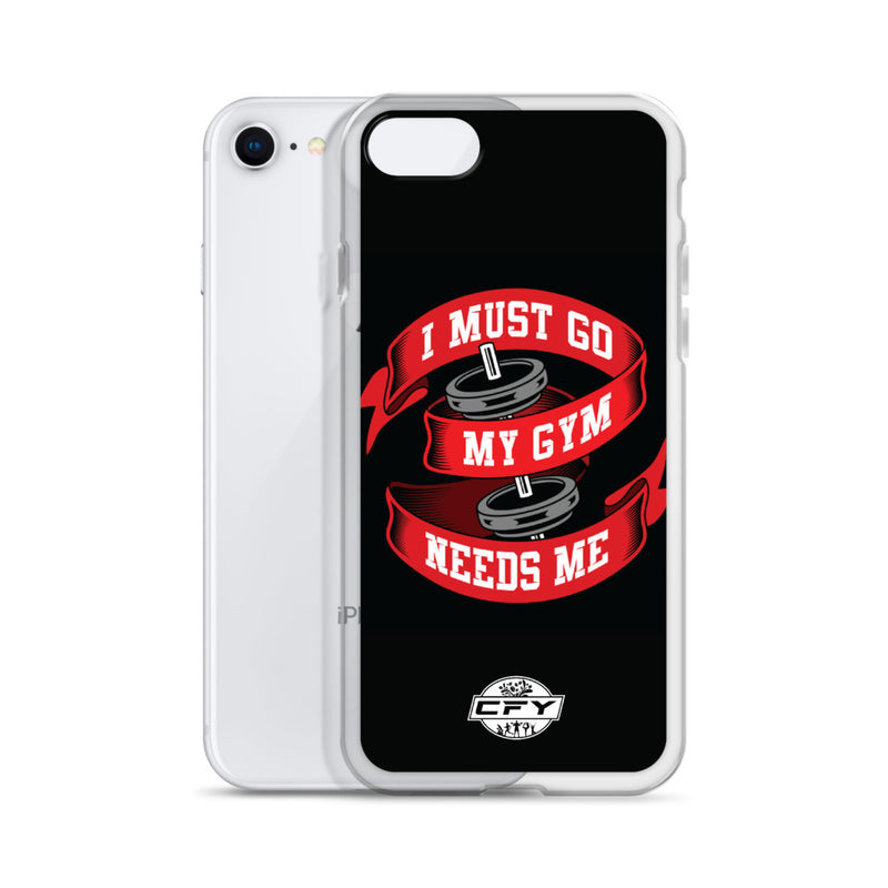 I Must Go, My Gym Needs Me iPhone Case 8 Plus