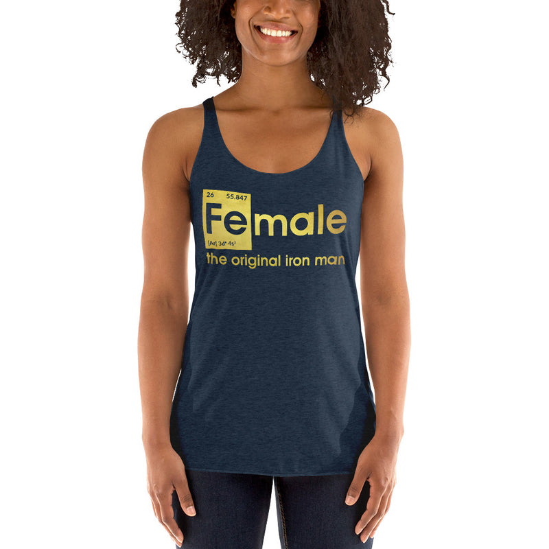 Fe-male the original Iron Man Racerback Tank Top
