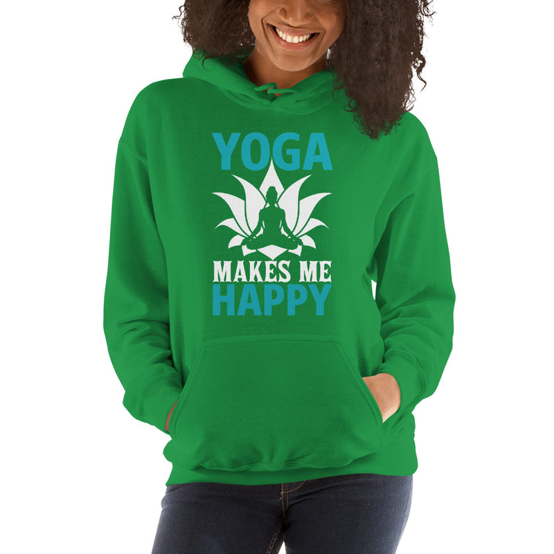 Yoga Makes Me Happy Women's Hoodie