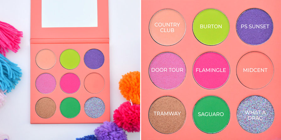 Palm Springs Pom Pom Springs Eyeshadow Palette
