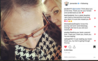 "Jann Arden dressed her Mom, Joan in Monarch ""Your top is so nice, Mom!""  Remembering Joan Dec 30, 2018"