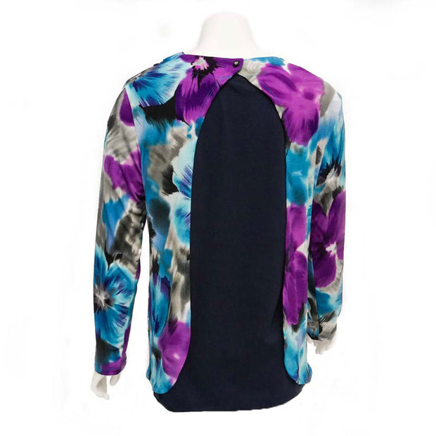Brazil Blossoms Open-Back Blouse