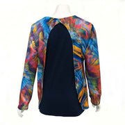 Fire and Ice Open-Back Blouse