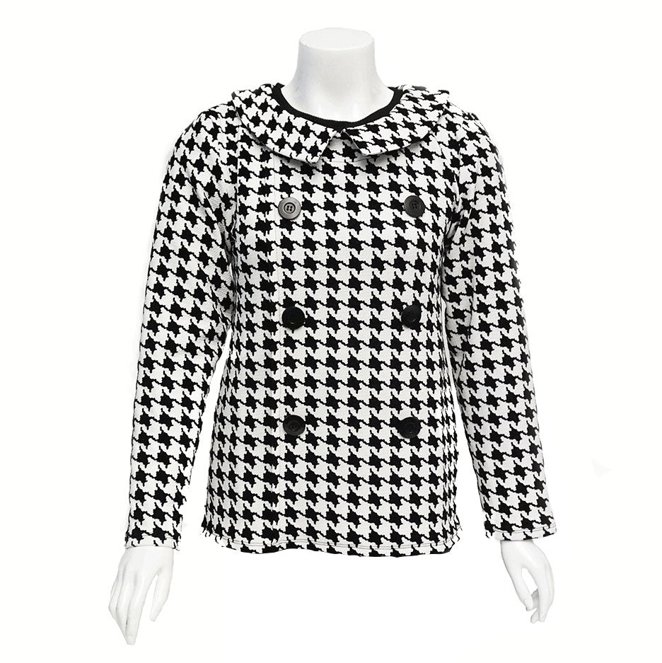 38161f52f1c Jackie Houndstooth Open-Back Blouse – Monarch Clothes