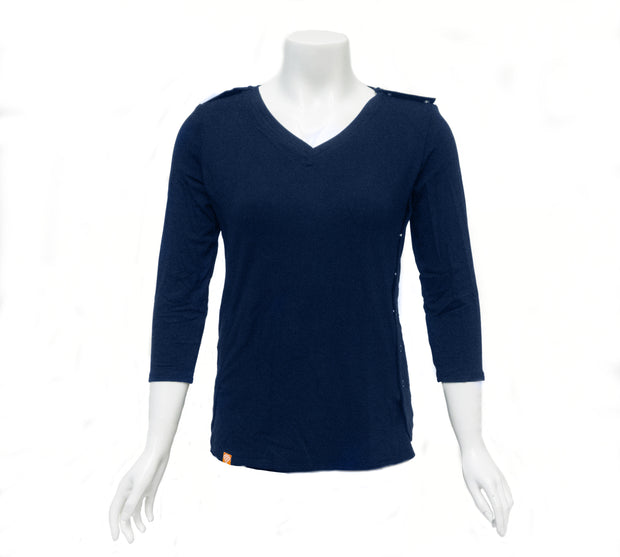 Midnight Navy Easy-On T-Shirt with 3/4 Sleeves
