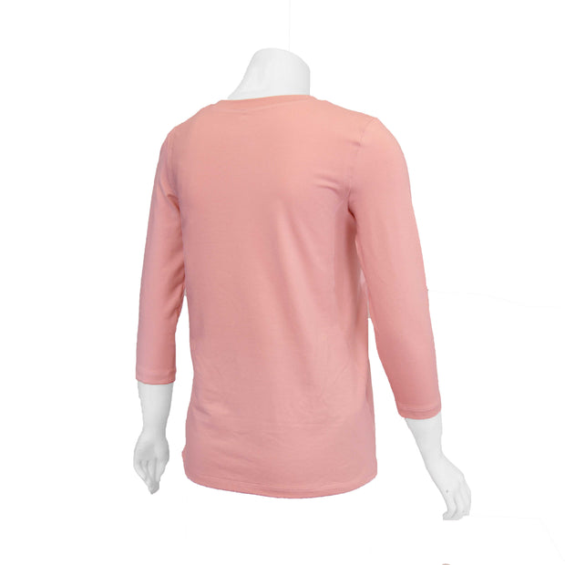 Mellow Rose Easy-On T-Shirt with 3/4 Sleeves