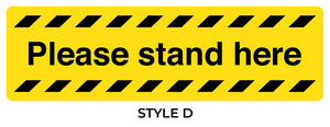 Please Stand Here Stickers. Social Distancing Supplies