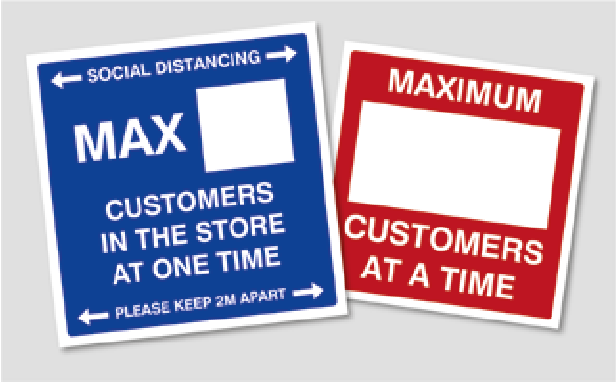 Max Customer Shop Sticker. Social Distancing Supplies