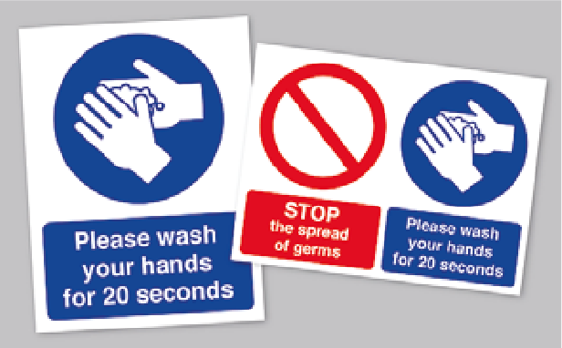 Coronavirus Wash Your Hands Stickers*