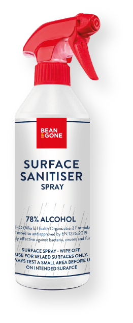 Bean & Gone Refillable Spray Bottle for Surface Sanitising (Empty) *