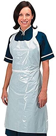 White Flat Pack Apron in 100s