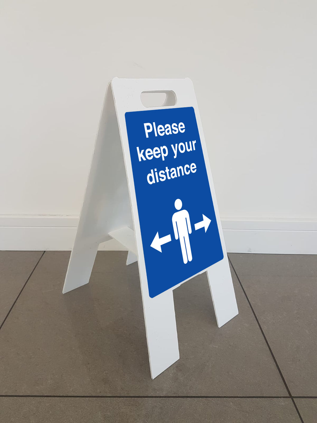 Self Distancing A-Frame Floor Sign*