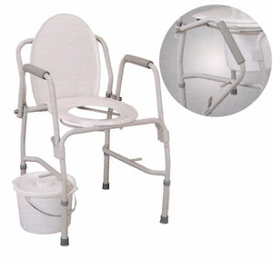 B6100 Adj. Coated Steel Drop Arm Commode