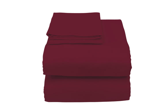 C3057Y Contour Hospital Bed Sheet in Burgundy